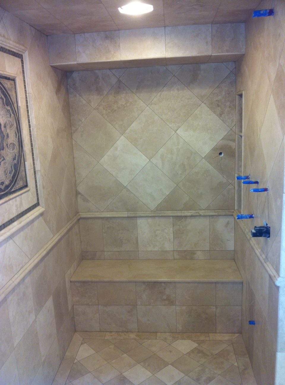 shower seat published january 9 at 960 in custom tile