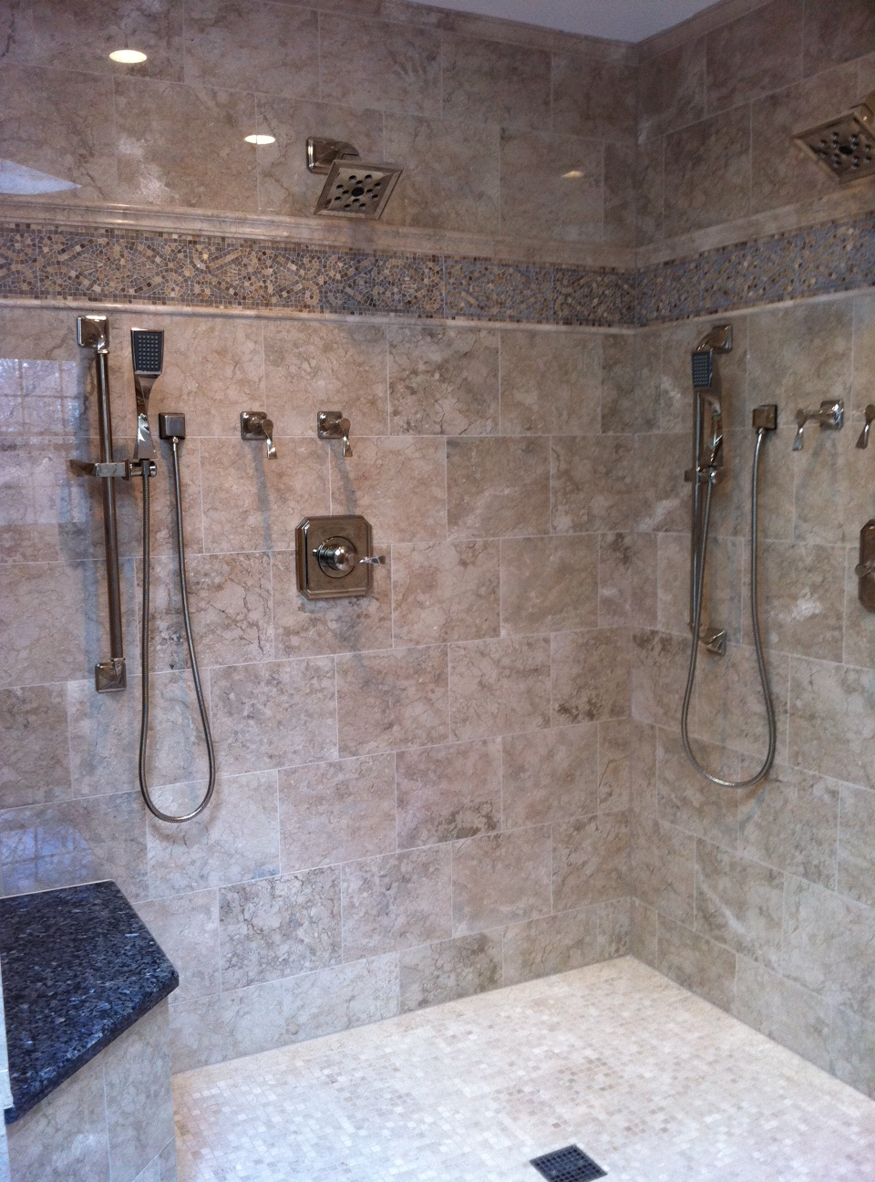Shower Wall Accent 2 MC Tile Design Inc